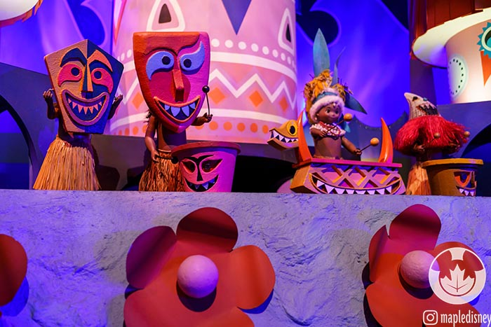 The Tiki drummers in It's a Small World