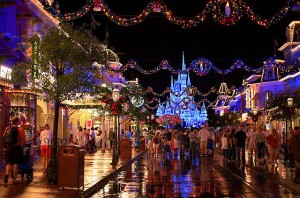 Main Street during Mickey's Very Merry Christmas Party