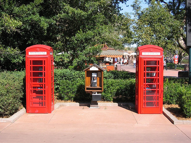 Three phones at EPCOT