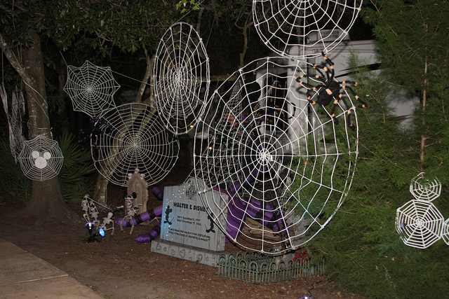 Halloween decorations at Ft. Wilderness Campground