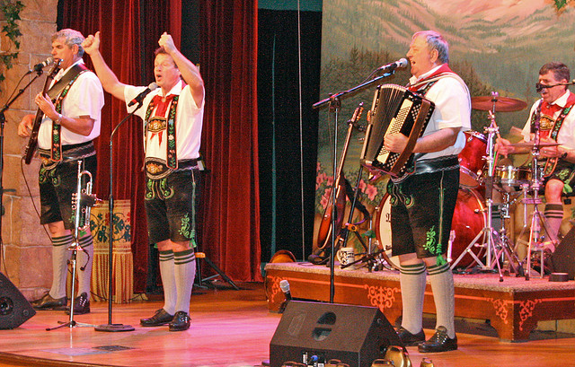 The Oktoberfest Musikanten at EPCOT's Biergarten