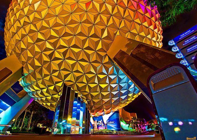 I just couldn't wait to walk under Spaceship Earth - Photo by Tom Bricker