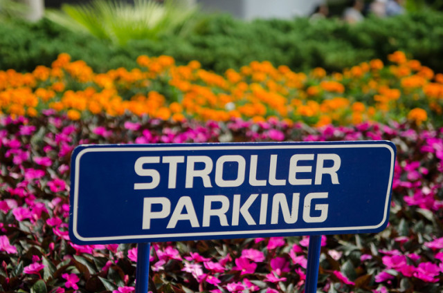 Stroller Parking is available almost everywhere! Photo by Laurie Sapp.