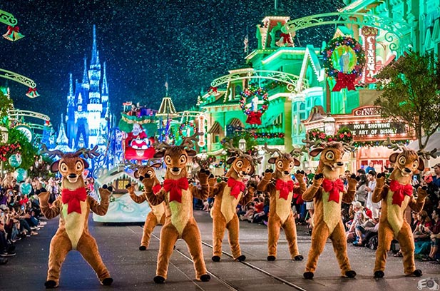 The Reindeer games at the MVMCP Parade - Photo by WDW Shutterbug
