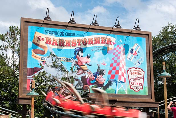 You can see the Barnstormer sign with your 1991 Walt Disney World Tickets