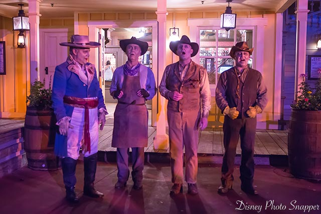 The Dapper Dans all dressed up for Mickey's Not So Scary Halloween Party
