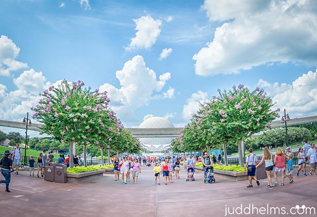 Light crowds in Epcot