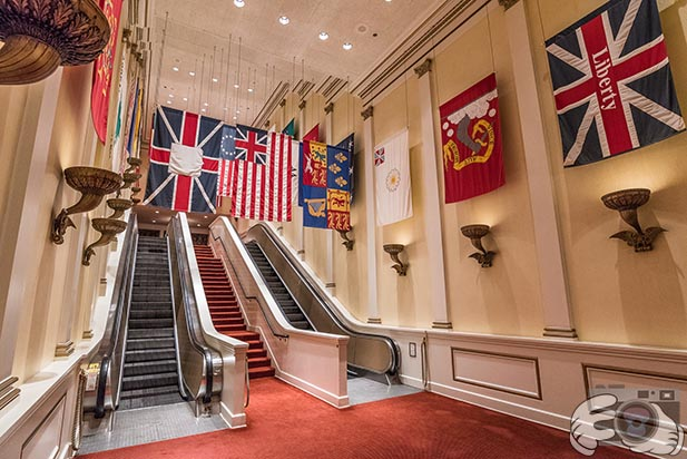 The history of American Flags is in the American Adventure