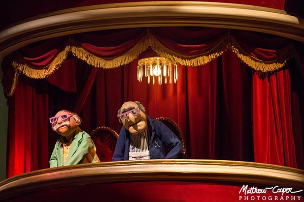 The Grumpy men in the balcony at Muppet Vision 3D