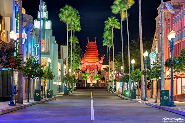Looking down the main street at Disney's Hollywood Studios