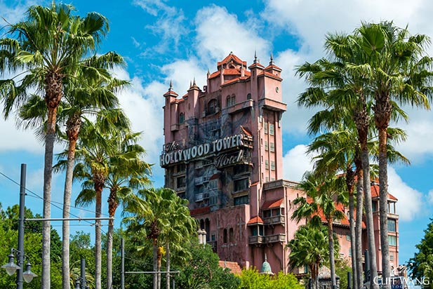 The Tower of Terror is spooky even in full daylight