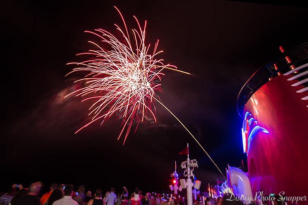 Fireworks at sea on the Disney Dream are really cool