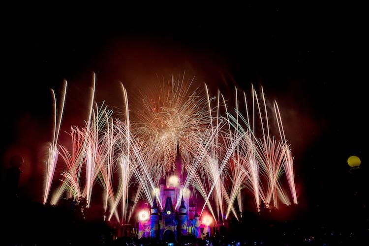 New Years Fireworks at Magic Kingdom