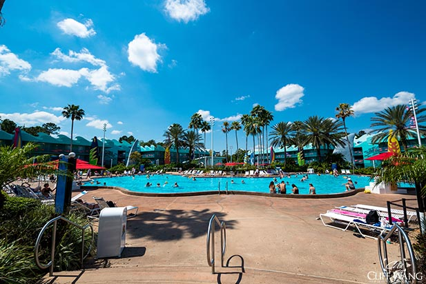 The Surfs Up pool at Disney All Star Sports Resort