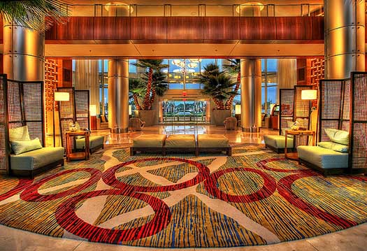 The lobby of the Bay Lake Towers
