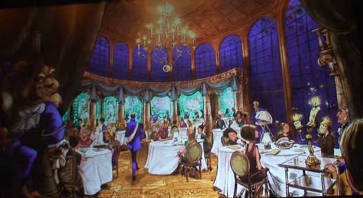 Concept art from Be Our Guest