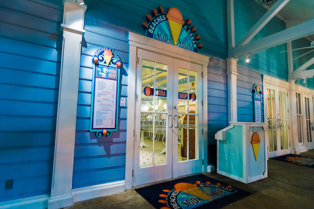 The entrance to Beaches and Cream
