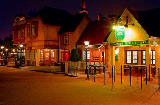 The Yorkshire County Fish Shop is one of the best Disney Dining Plan Counter Service Meals