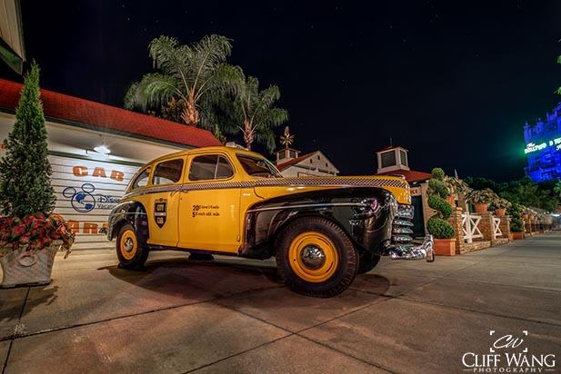 The cab at Disney's Hollywood Studios