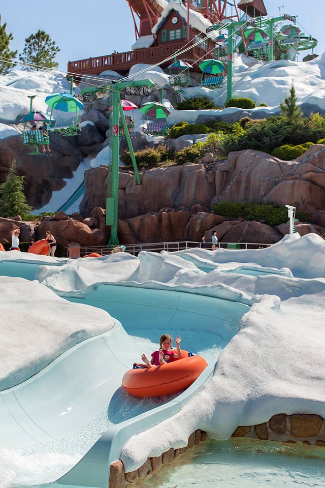 The slide at Blizzard Beach