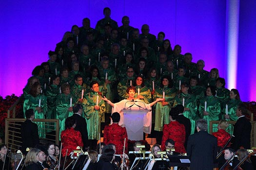 Chita Rivera as the narrator of the Candlelight Processional