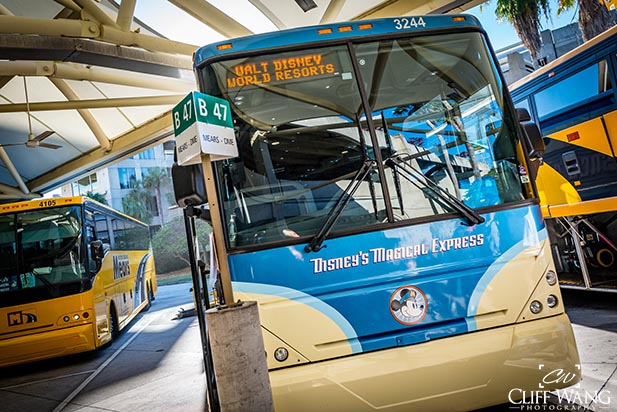 You won't get to ride on the Magical Express bus