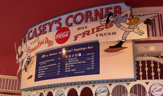 The Menu at Casey's Corner