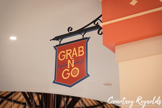 The Grab N Go sign at Disney's Caribbean Beach Resort