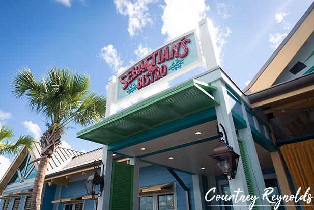 The entrance to Sebastian's Bistro at the Caribbean Beach Resort