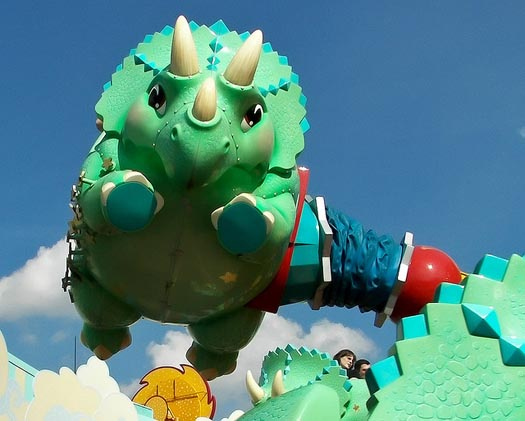 Triceratops Spin is one of the Rides in Chester and Hesters Dino Rama