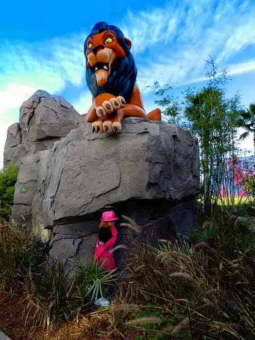 Scar on a rock at the Art of Animation