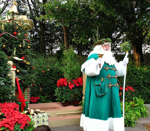 Father Christmas at EPCOT is part of the Christmas Decorations and shows at Disney World