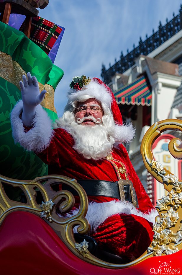 Santa in the Once Upon a Christmastime Parade