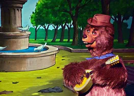 Wendell from the Country Bear Jamboree singing a fractured folk song