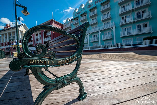 Even the Boardwalk is always clean. That's why Dad loves Disney Hotels.