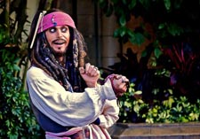 Jack Sparrow at Jack Sparrow's Pirate Tutorial in Disney Adventurland