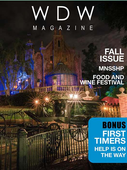 WDW Magazine Cover featuring the Haunted Mansion