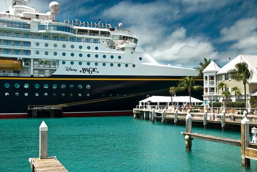 Disney Magic Cruise Ship in dock at Key West