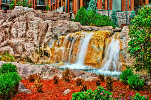 Waterfall at the Wilderness Lodge
