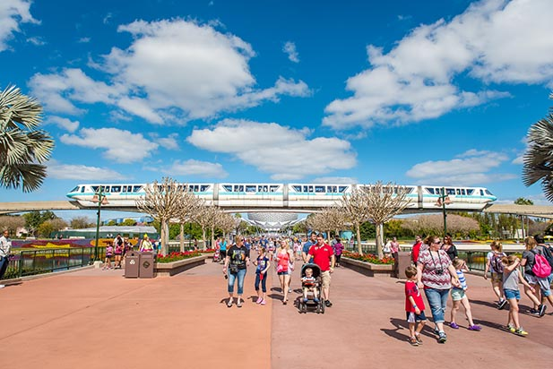 Nice, slow, morning crowds at EPCOT