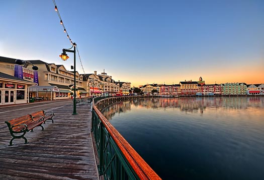 The Boardwalk area at Walt Disney World is the best place for Disney World resort hopping