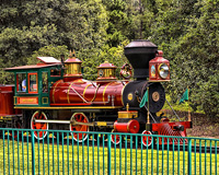 Disney World Transporation's railroad is a fun way to see the Magic Kingdom