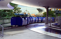 The Tomorrowland Transit Authority is a futuristic look at Disney World Transportation