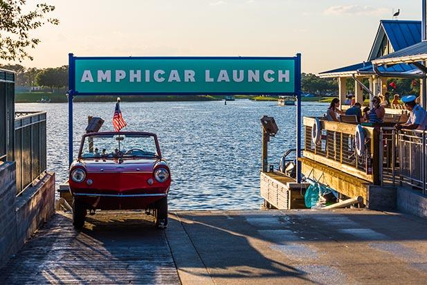 The Amphicar Launch beside THE BOATHOUSE