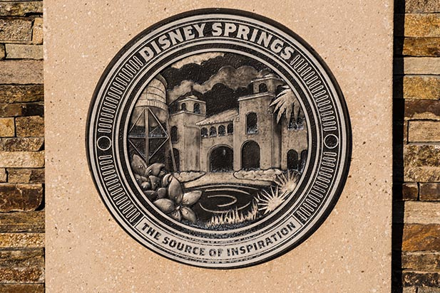 The Disney Springs logo in Disney Springs