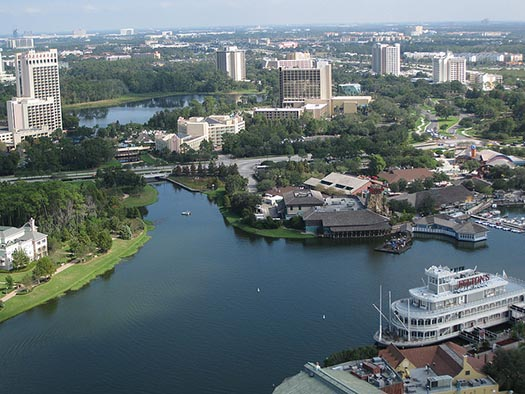 Disney Springs Hotels from Characters in Flight