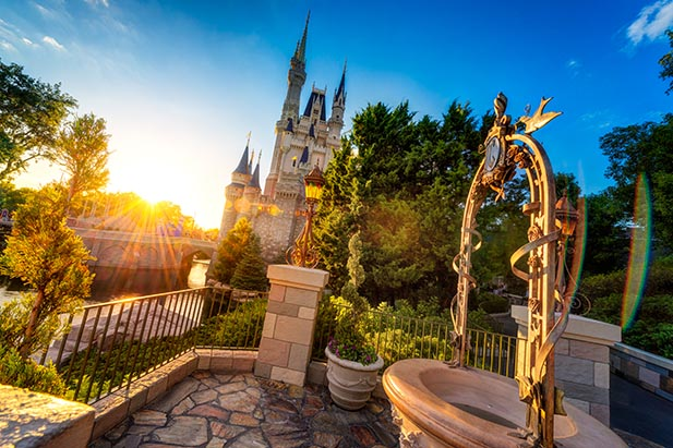 Cinderella Castle from the Wishing Well