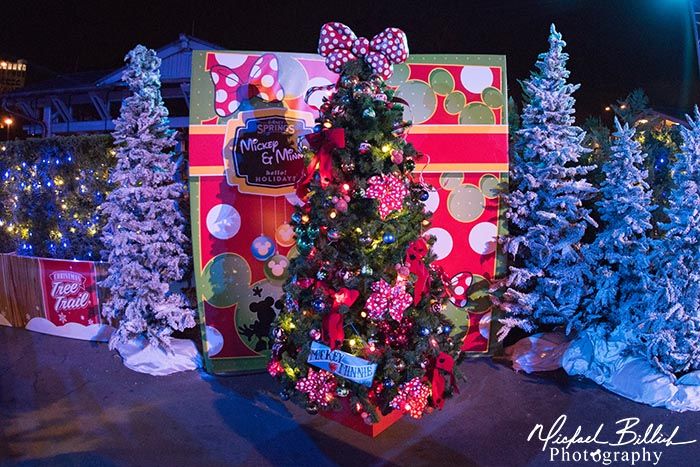 The Minnie Tree at the Disney Springs Christmas Tree Trail