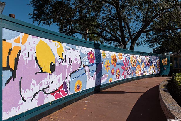 The Festival Art Wall at the EPCOT Festival of the Arts