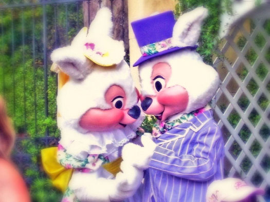 Mr. and Mrs. Easter Bunny together